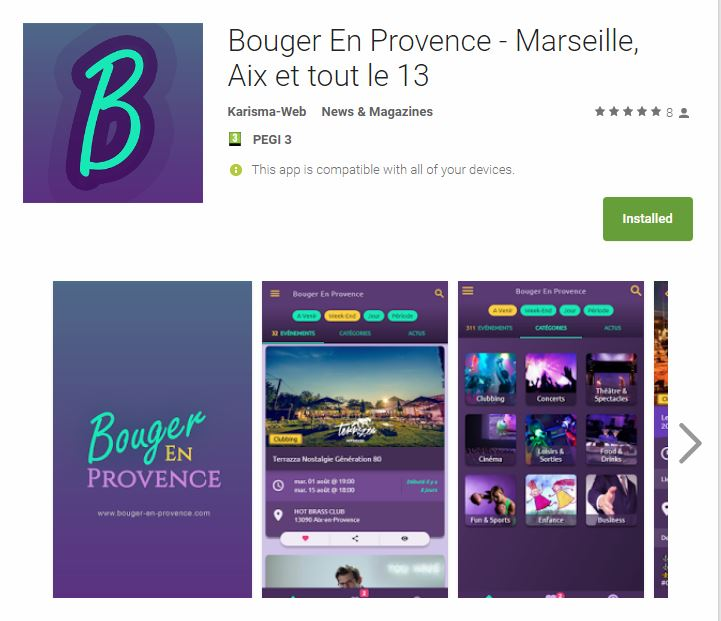 Application Mobile Bouger-En-Provence